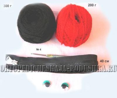 подушки вязанные крючком