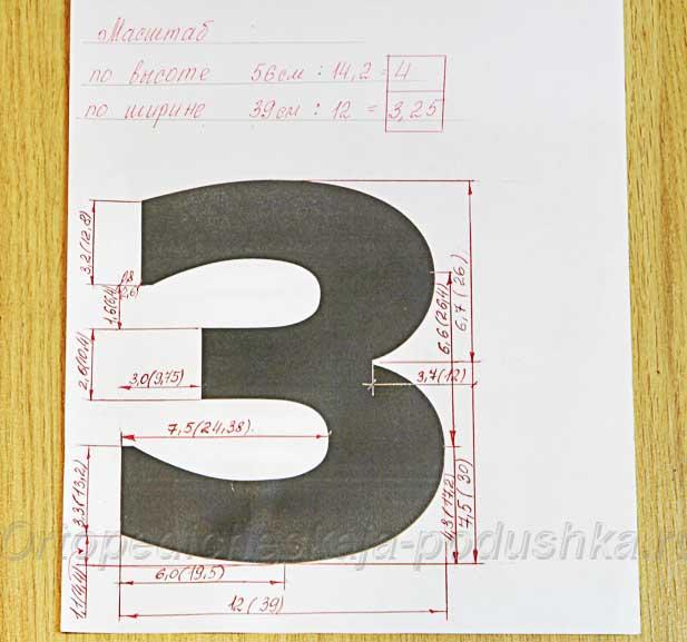 Цифры-подушки своими руками выкройки 12