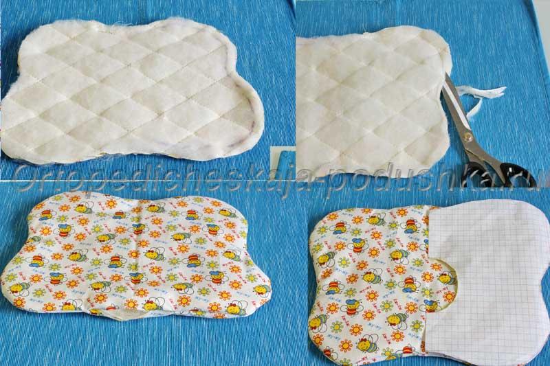 Как сделать подушку для новорожденного 925